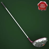 3d model golf stick taylormade r7