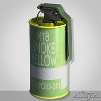 3ds max m18 yellow smoke grenade