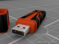 3d model kingston dt r500 usb-stick