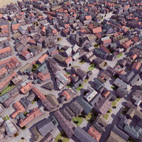medieval city towns 3ds