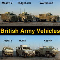 British army vehicles collection