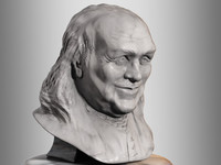 bust benjamin franklin 3d model
