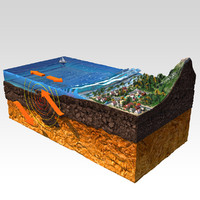 earthquake modeled 3d model