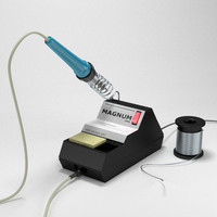 professional soldering station 3d model