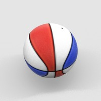 3d model of basket ball basketball