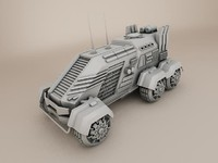 3d model sci fi vehicle