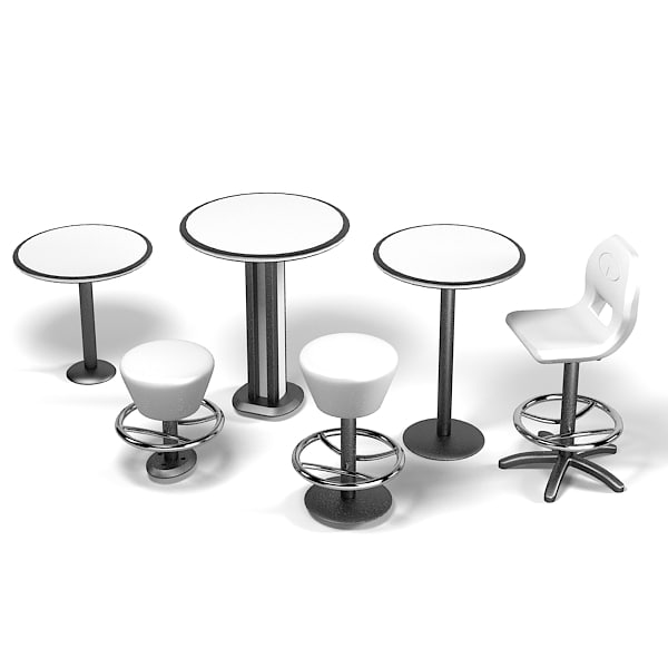 Amf qubica single bar counter swivel stool table