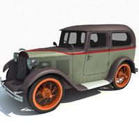 3d model austin seven swallow 1931