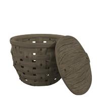 3d obj crabbasket basket crabs