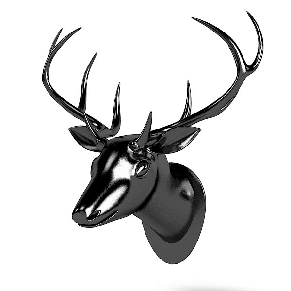 deer horn trophy head wall accent decor accessory.jpg