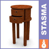 bedside table wood 3ds free
