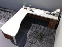 3d model desk office -