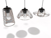 Tom Dixon Pressed Glass lamps