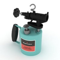 3d model vintage gasoline blowtorch 02