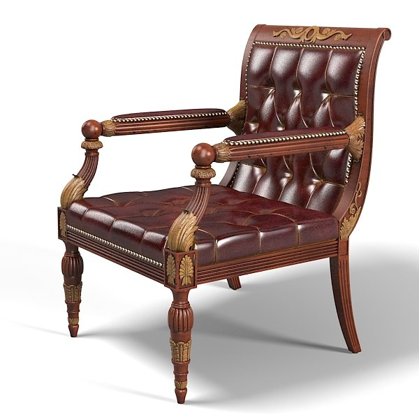 Regency library chair x for New style chair