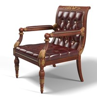 regency library chair carved theodore alexander classic furniture armchair