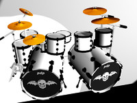 drum set rev 3d model