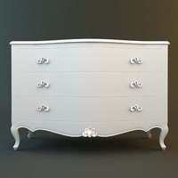 3d x antique white dresser
