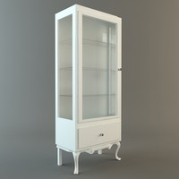 3d model display case cabinet vitrine