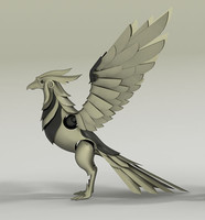 3d mechanical phoenix model