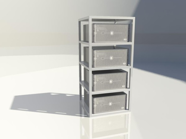 server block - 3d model - Game - Server Block... by aBernik
