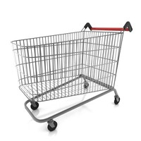 3d shopping trolley