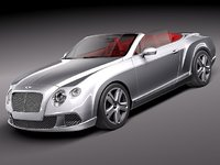 bentley continental gt gtc 3d model