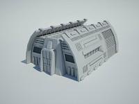 Futuristic Sci Fi Building 9