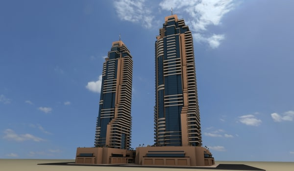 3ds max hotel grosvenor house dubai - Dubai Marina - Grosvenor House... by Blendem