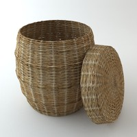 Wicker Basket with Cover