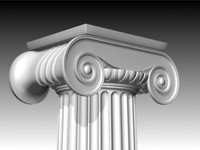 Column Ionic High Poly 3D Model