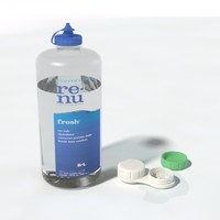 Saline and Contact lense case
