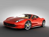 3d ferrari 458 italia car model