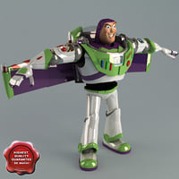 buzz lightyear static 3d model
