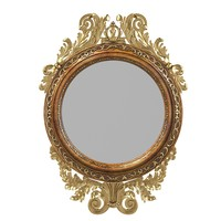 Girandole classic round mirror carved  carving classic baroque classical rococo traditional