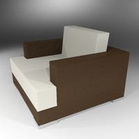3d contemporary armchair wicker