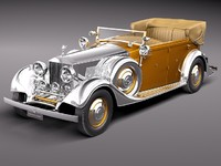 3d rolls royce phantom ii model