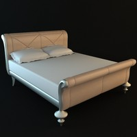 Traditional Style Sleigh Bed