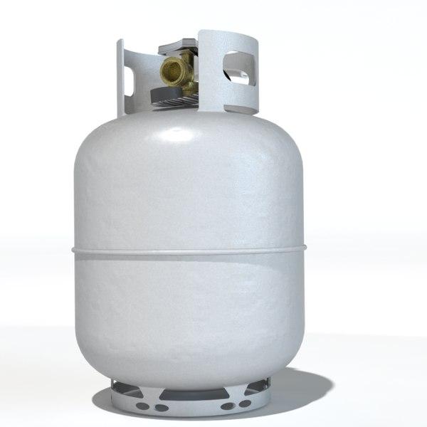 3d model propane tank