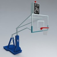 3d basketball rim ball model