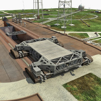 nasa clean pad launch complex 3d max