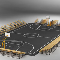 basketball court basket 3d max