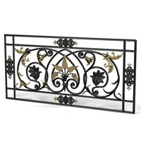 forging iron forged balcony railing baroque classic