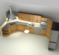 kitchen house 3d c4d