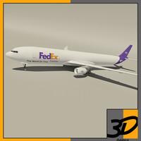3d model airbus fedex cargo