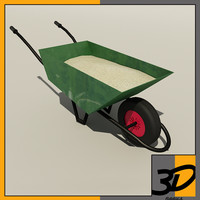 wheelbarrow sand 3d model