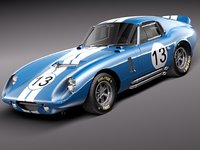 shelby daytona cobra coupe 3d model