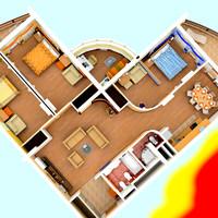 3d max apartment