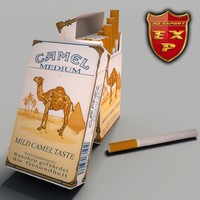 3d model camel pack cigarettes