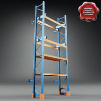 warehouse racks v2 3d max
